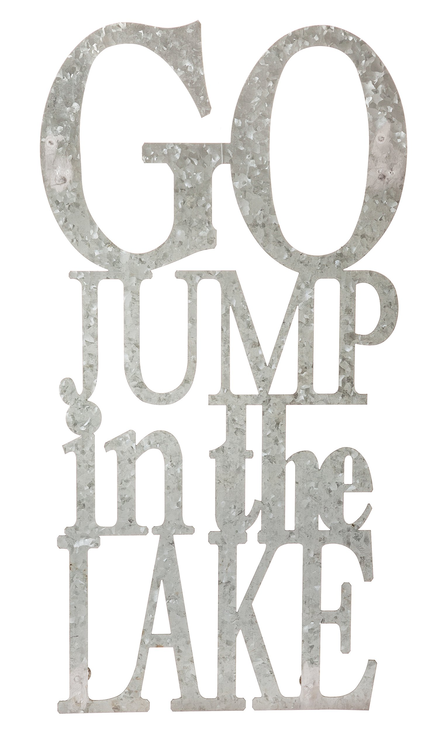 Cape Craftsmen Go Jump in The Lake 3-D Cursive Metal Wall Decor by Cape Craftsmen