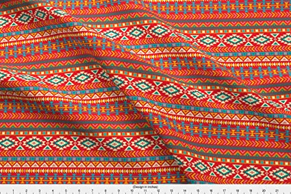 Amazon Spoonflower Tribal Pattern Fabric Aztec Tribal Native Enchanting Aztec Tribal Pattern