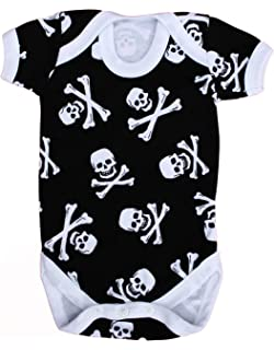 2f248654e Alternative Baby Grow for Boys or Girls | Skull & Crossbones Baby Vest/Cool  Pirate