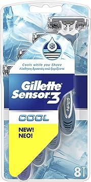 Gillette Sensor3 Cool hombre 3-bladed maquinilla de afeitar ...