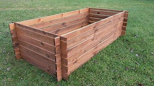 Compostador de madera estable, contenedor de compost, 170 x ...