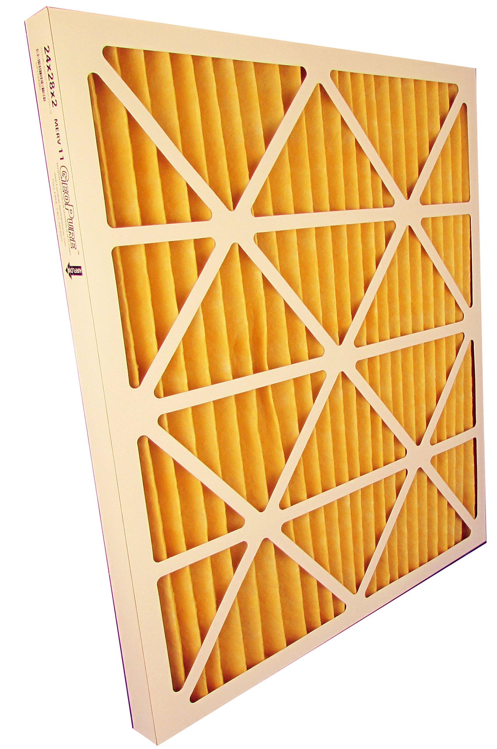 24x28x2 MERV 11 GeoPure Geothermal Air Filter (pack of 6)