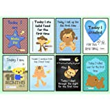 Baby Milestone Cards - Set of 30 Baby Boy Photo Prop Signs Posters - Perfect baby shower, christmas present or christening or pregnancy gift