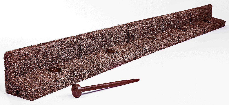 confezione da/6/pezzi ogni pezzo della lunghezza di 1 m Brown FlexiBorder resistenti al tosaerba bordure da giardino resistenti alle intemperie flessibili