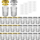 Mason Jars, 8 OZ Mason Jars Canning Jars Jelly Jars With Regular Lids and Bands, Ideal for Jam, Honey, Wedding Favors, Shower