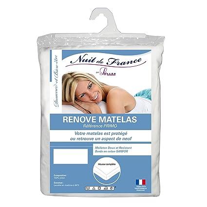 Nuit De France 331236 Protector de colchón (muletón en Forma de Funda Completa algodón Color