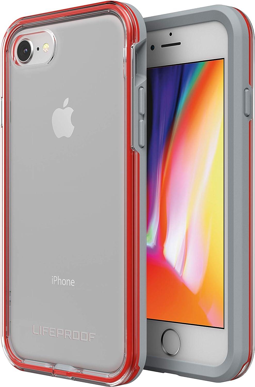 Contorno Gris y Rojo LifeProof Slam Trasera Transparente Funda Anti ca/ídas Deportiva para Apple iPhone 7//8 Pro