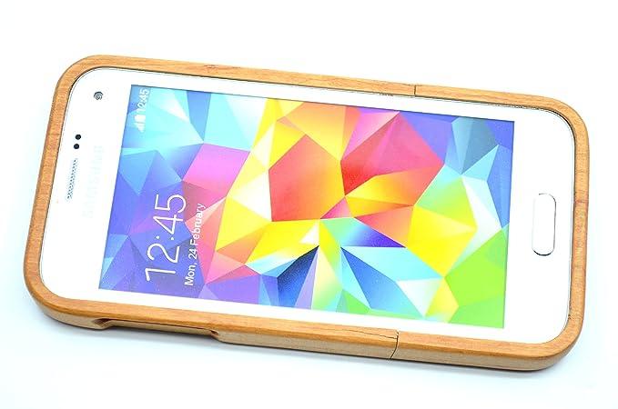 RoseFlower® Samsung Galaxy S5 Mini Funda de Madera: Amazon.es: Electrónica