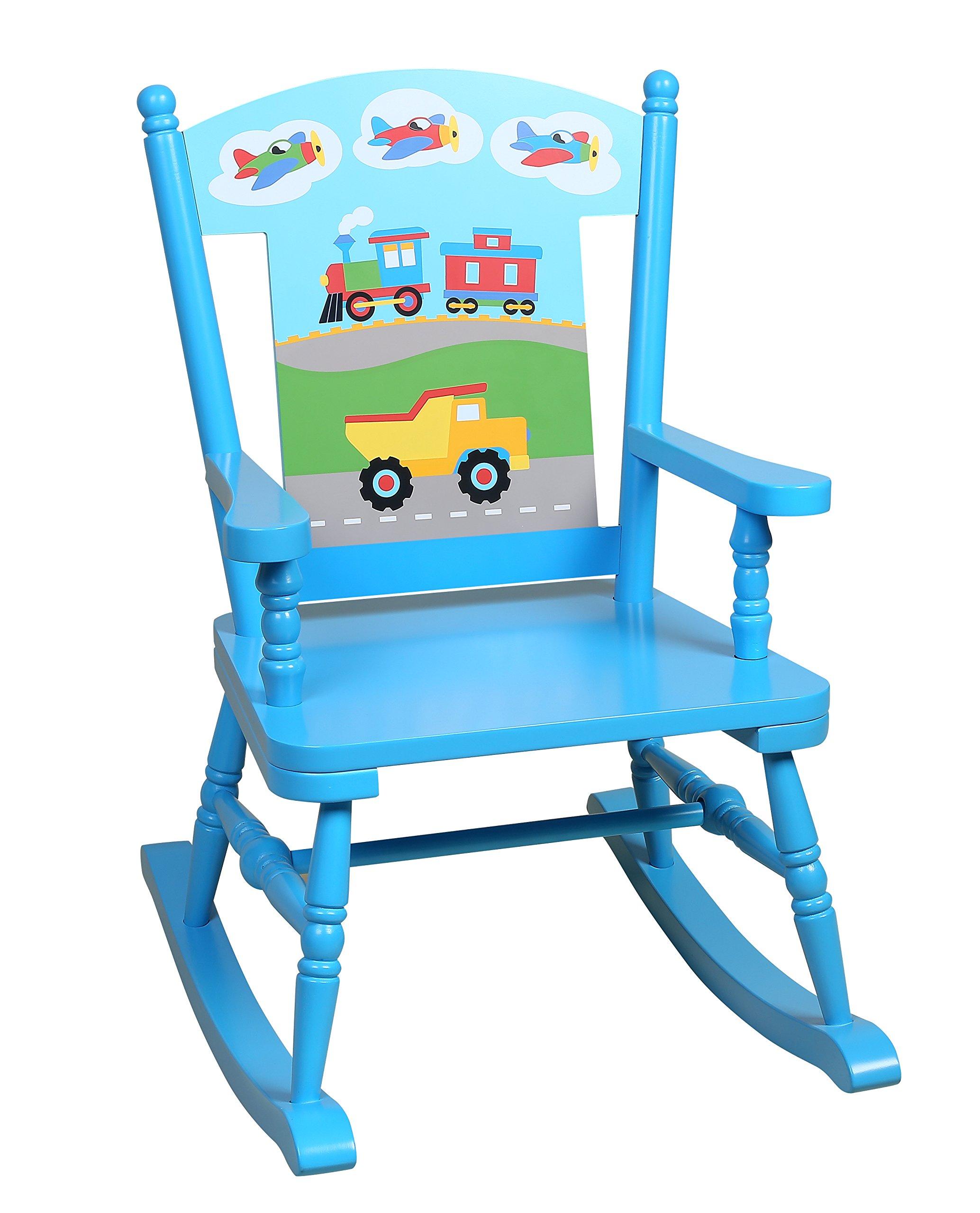 Wildkin Rocking Chair, Trains Planes & Trucks by Wildkin