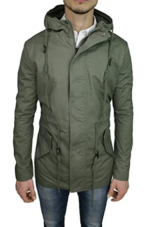 detailed look 6b746 0c140 Mat Sartoriale Giubbotto Parka Uomo Verde Militare Casual in ...