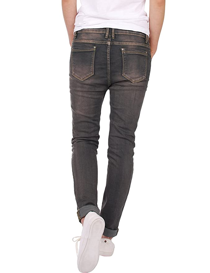 Fraternel Jeans Donna Cavallo Basso Baggy: Amazon.it