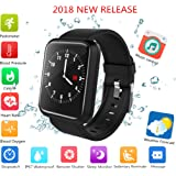 beaulyn Fitness Tracker 2018, IP67 Waterproof Big Colour Screen Activity Tracker with 8 Sports Modes Swimming Pedometer HR Blood Pressure Spo2 Monitor Smart Watch for Kids Men Women for Android IOS
