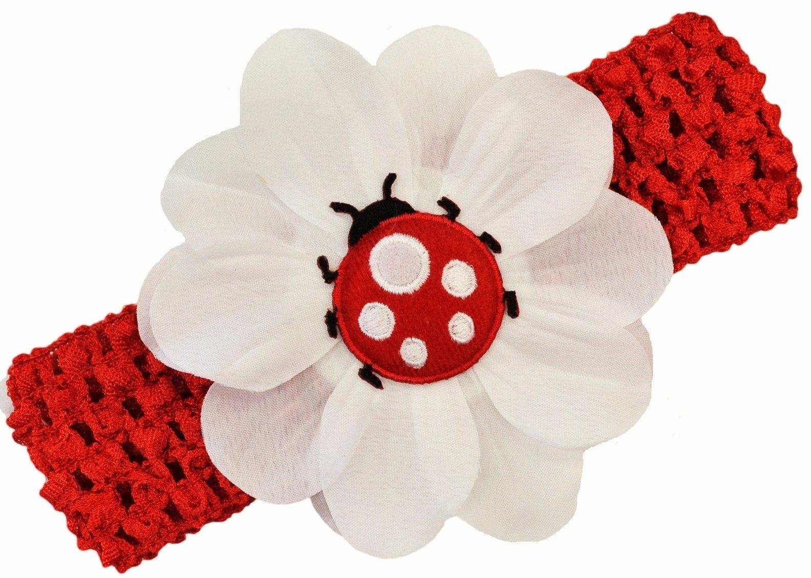 Amazon Puffy Ladybug Crochet Baby Headband Infant And Toddler