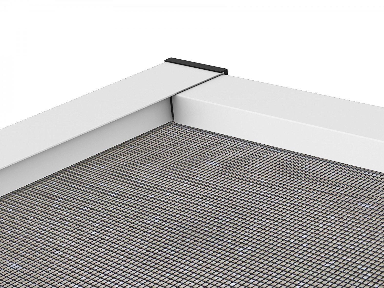 Premium Slim PLUS Fliegengitter f/ür T/ür als Alubausatz mit Fiberglasgewebe 100 cm x 210 cm wei/ß Profi Insektenschutz