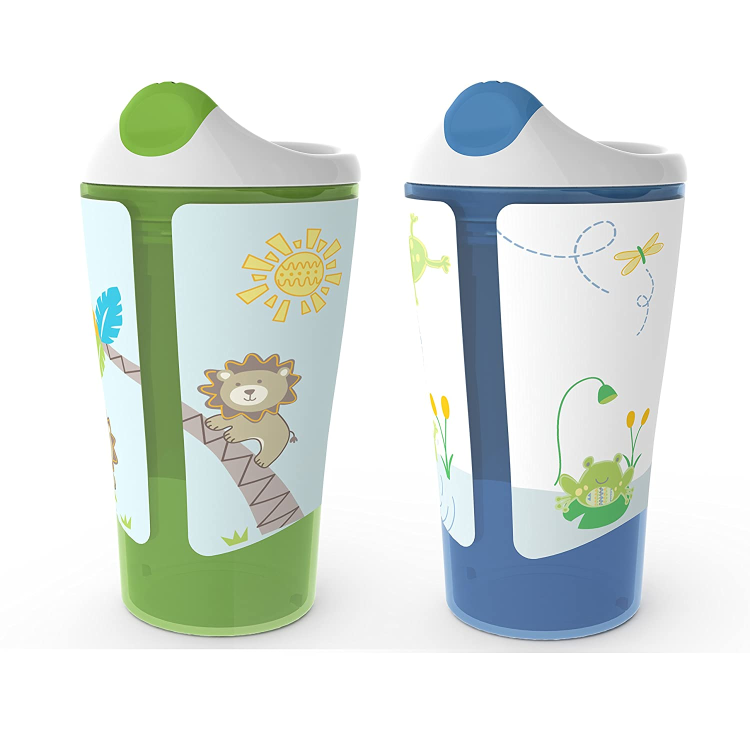 Born Free BPAフリーGrow with Me 10オンスSippy Cup, 2 Count   B00I0587AW