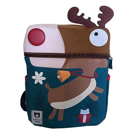 """Mochila Escolar Mochila""""Rudolph con la nariz roja para el jardín de infantil Primaria"""