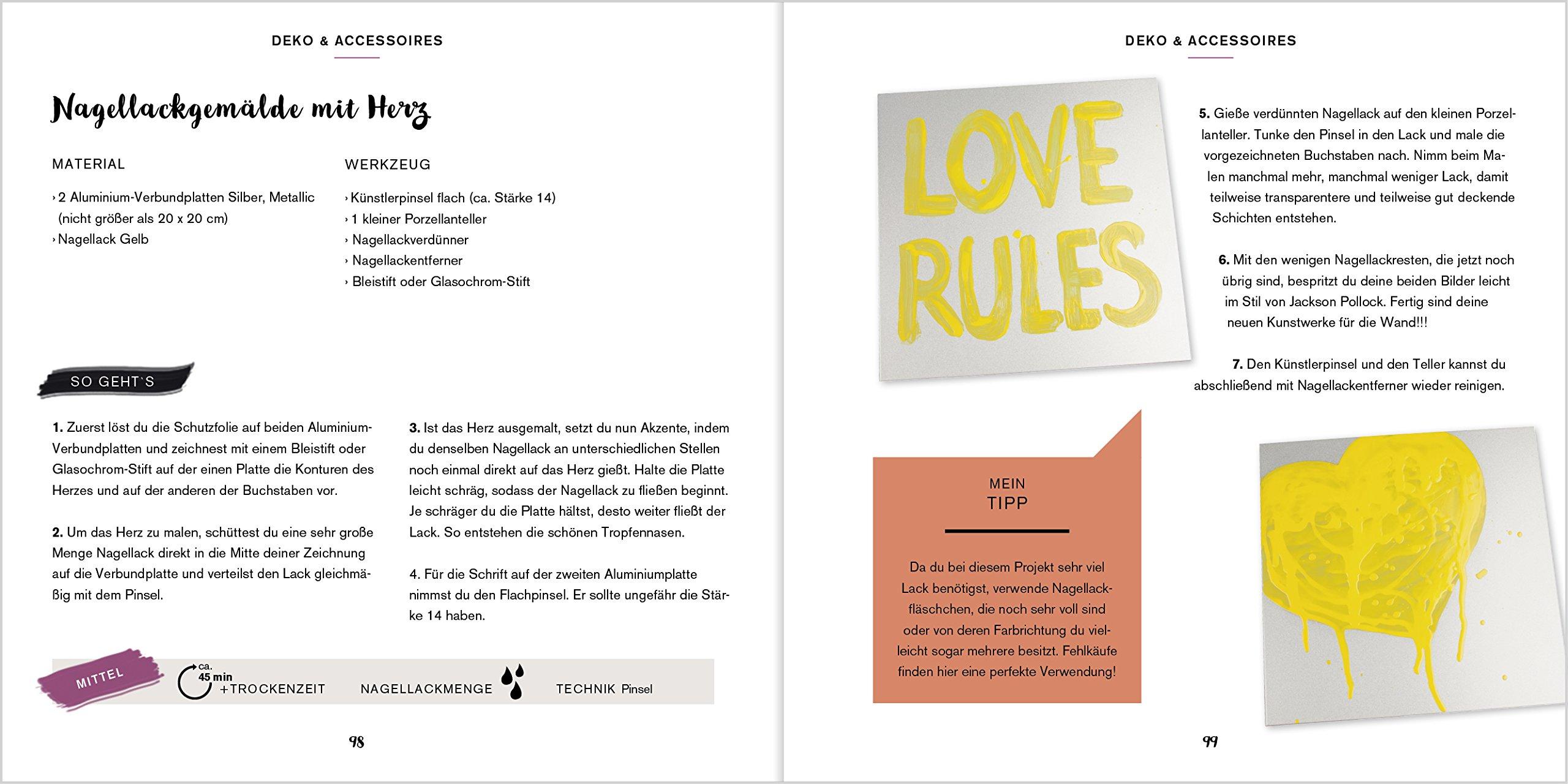 Kreativ mit Nagellack: 40 coole DIY-Ideen mit Nagellack.: Amazon.de ...