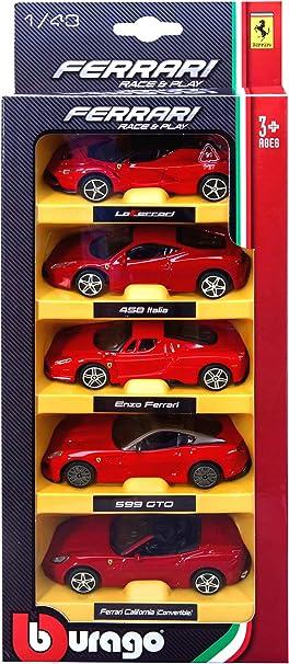 Burago Pack 5 Coches Ferrari 1/43eme: Amazon.es: Juguetes y juegos