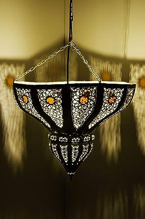 Marrakesch lámpara colgante blanco cal 45 cm E27 ...