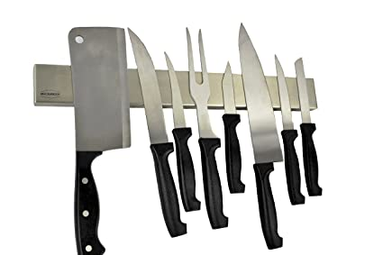 Magnabode 16 Inch Stainless Steel Magnetic Knife Strip Specially Designed  With Superior Strength Knife Magnets Allowing