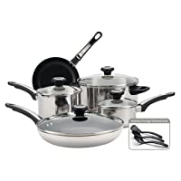 Deals on Farberware 77299 Stainless Steel Cookware Set, 12 Piece