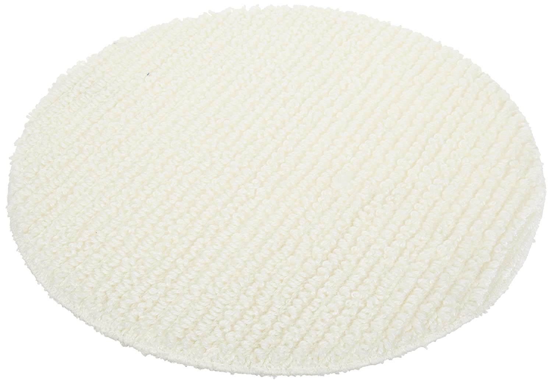 "Impact 1019 Polyester Blend Low Profile Carpet Bonnet, 19"" Diameter, White (Case of 6)"