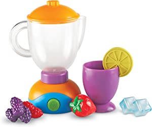 Learning Resources New Sprouts Smoothie Maker!, Pretend Mixer for Kids, Kitchen Toys for Kids, Play Food, 9 Pieces, Ages 2+