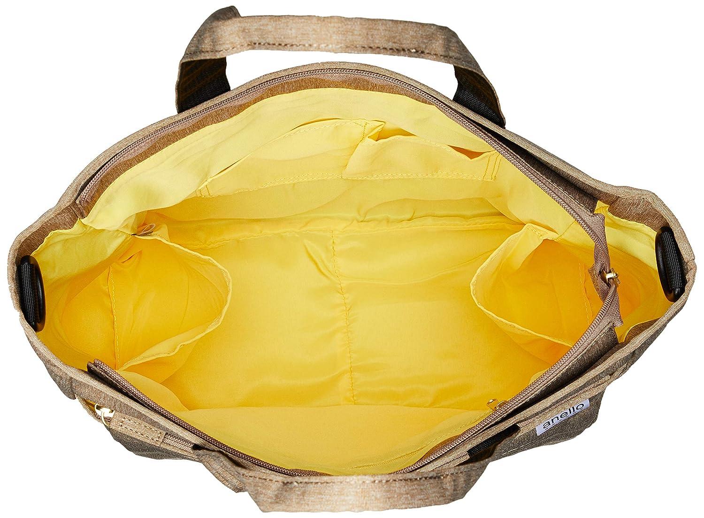 Anello Grande GU-H2316 SPS lätt vattenavvisande ljung poly 2-vägs tygväska BEIgE