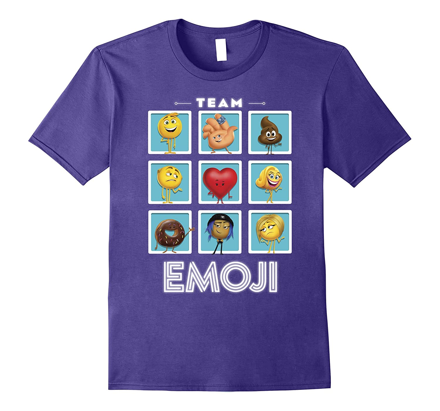 The Emoji Movie Team Emoji Panels Graphic T-Shirt-FL