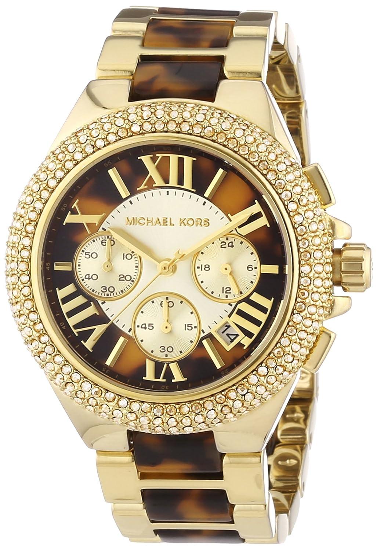 Michael Kors Damen-Armbanduhr XL Chronograph Quarz verschiedene Materialien MK5901