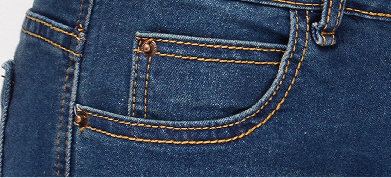 Amazon.com: chouyatou - Pantalones cortos de mezclilla con ...