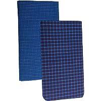 Pappu Men's Poly Cotton Lungis, Set of 2 (Multi Colour)||Assorted Checks or Colors