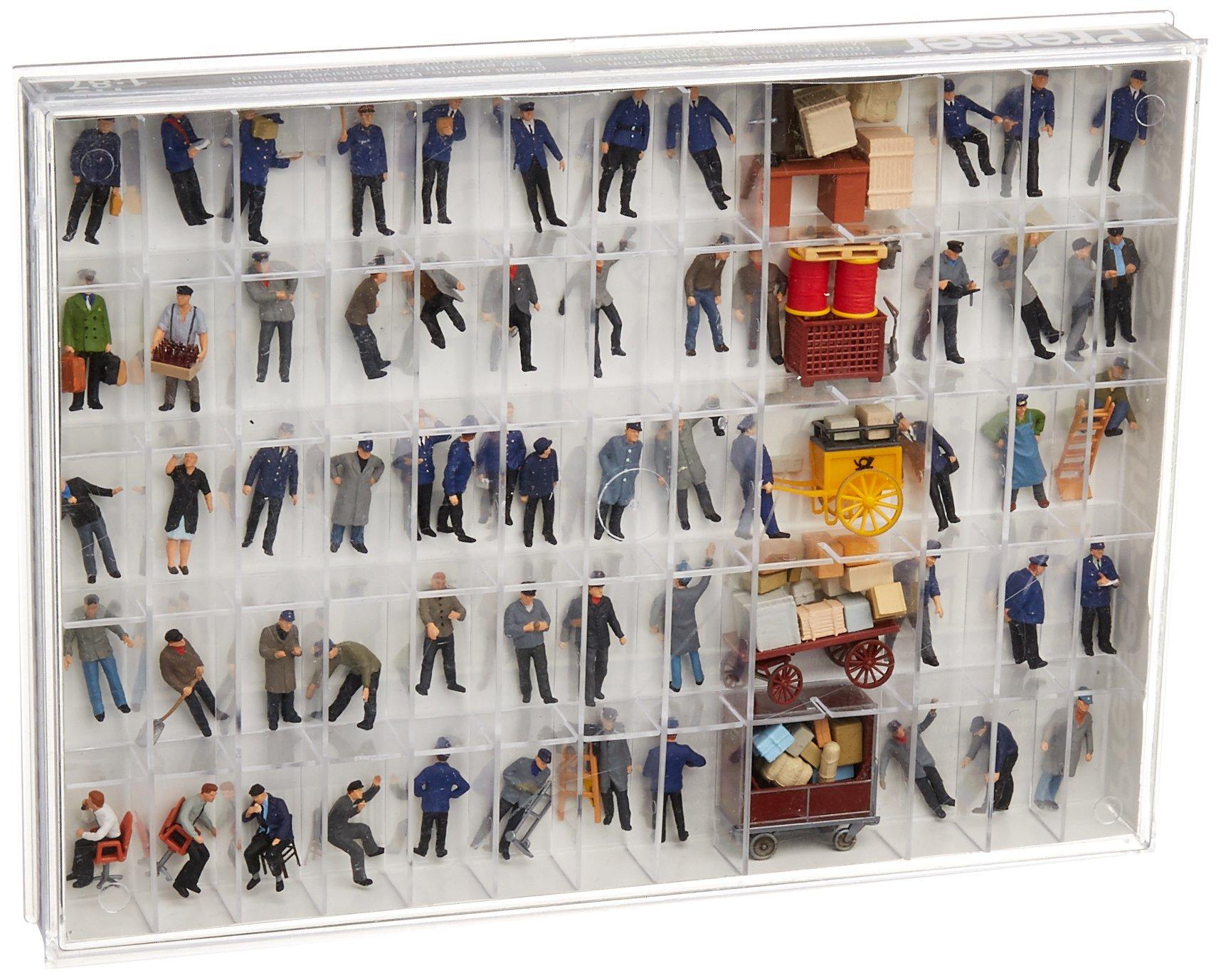 Preiser 13004 Working People Assorted Working People Package(60), Early Era III HO Model Figure