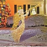 Amazon 48 lighted nativity trumpet gold silver sequin angel penn 58 397w 066 48 glittered trumpeting angel lighted christmas yard art decoration aloadofball Gallery