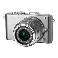 Olympus PEN E-PL3 Systemkamera (12 Megapixel, 7,6 cm (3 Zoll) Display, bildstabilisiert) silber Kit mit 14-42mm Objektiv silber