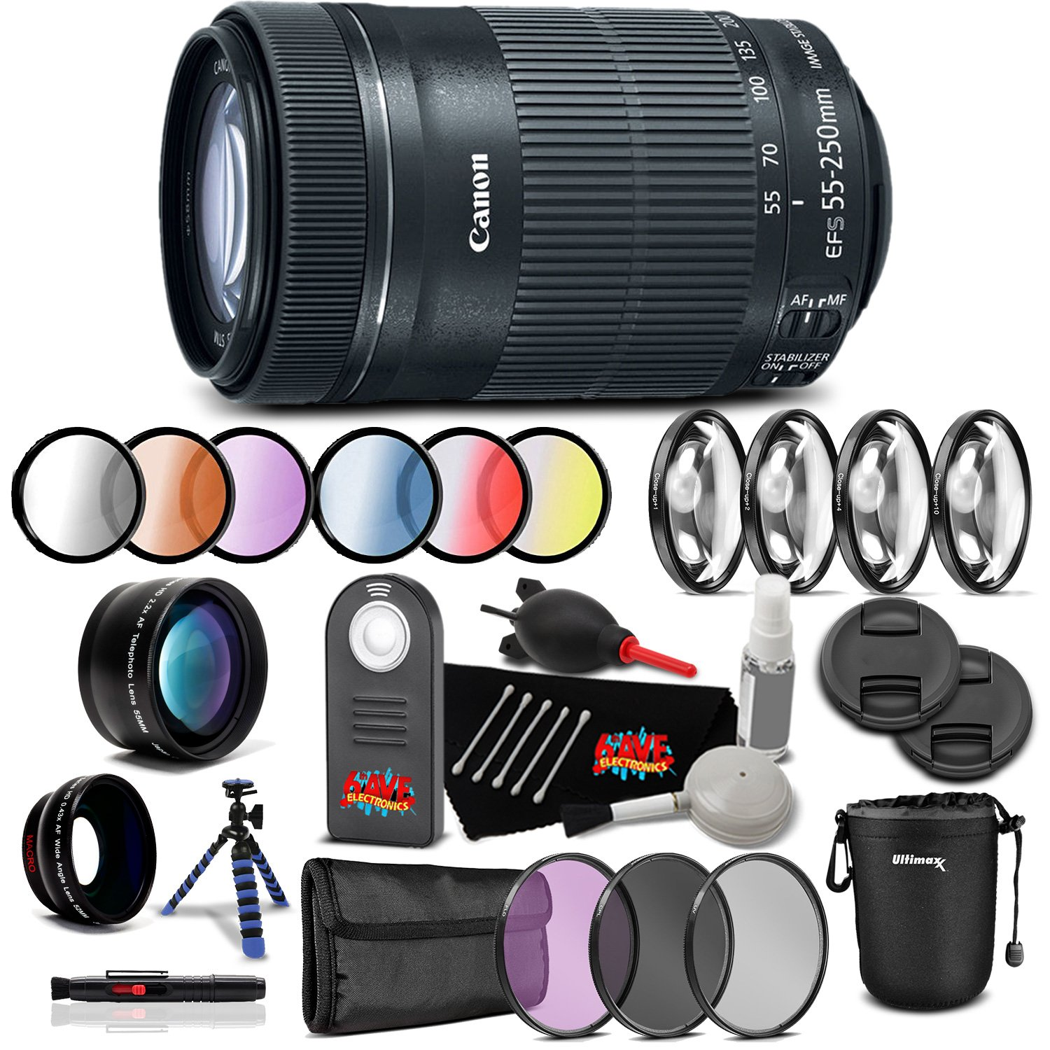 Canon EF 100 mm mm f/2 B07FMH7HSV Professional USMレンズアクセサリーバンドル国際モデル B07FMH7HSV Professional Kit|55-250mm f/4-5.6 55-250mm f/4-5.6 Professional Kit, トヨシナマチ:b16890ff --- ijpba.info