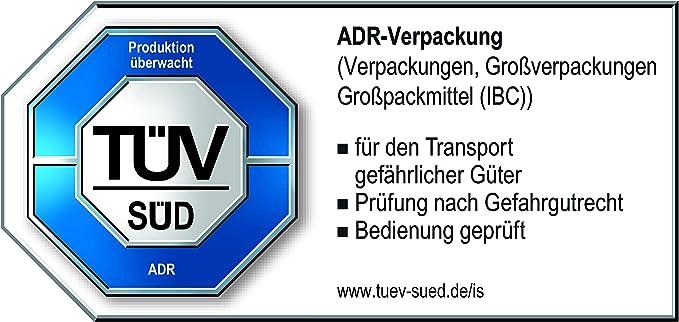 Hünersdorff 802060 Kraftstoff Kanister Profi 20l Für Benzin Diesel Und Andere Gefahrgüter Un Zulassung Made In Germany TÜv Geprüfter Produktion Rot Auto