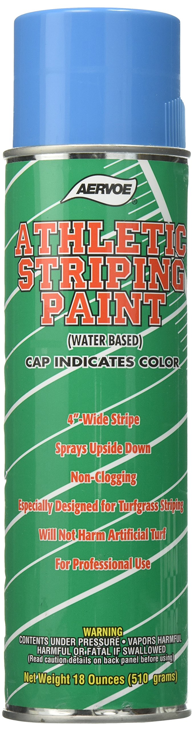 Tapco 2910-00022 Athletic Striping Paint Can, 18 oz Capacity, Blue, For Grass/Turf Marking (Case of 12)