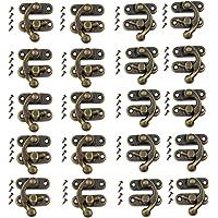 20 Sets Klink Haak Hasp Houten Doos Hasp met 80 Schroeven Vintage Gesp Haak Lock Links Rechts Klink Haak voor Houten…