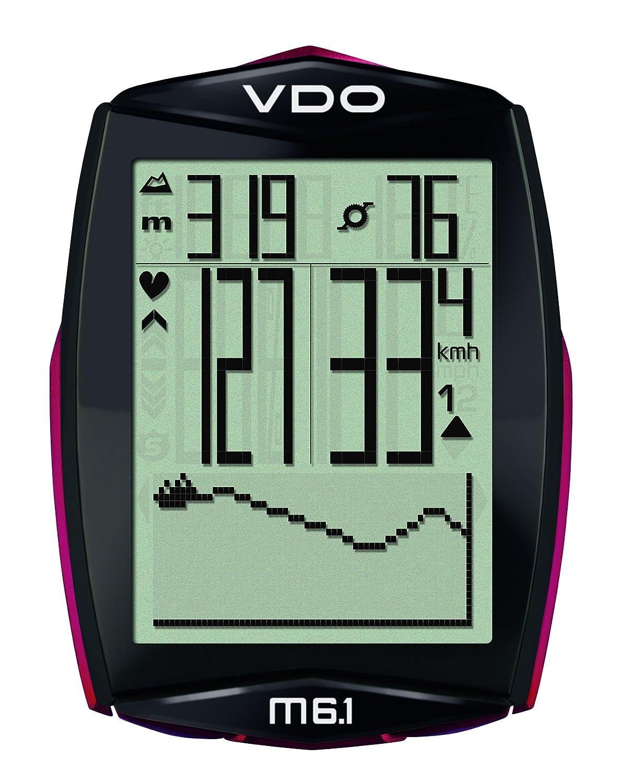 VDO M6.1 WL Fahrradcomputer (Funk, kabellos) 58 Funktionen inkl. Pulsfunktion, Trittfrequenz und Höhenmesser