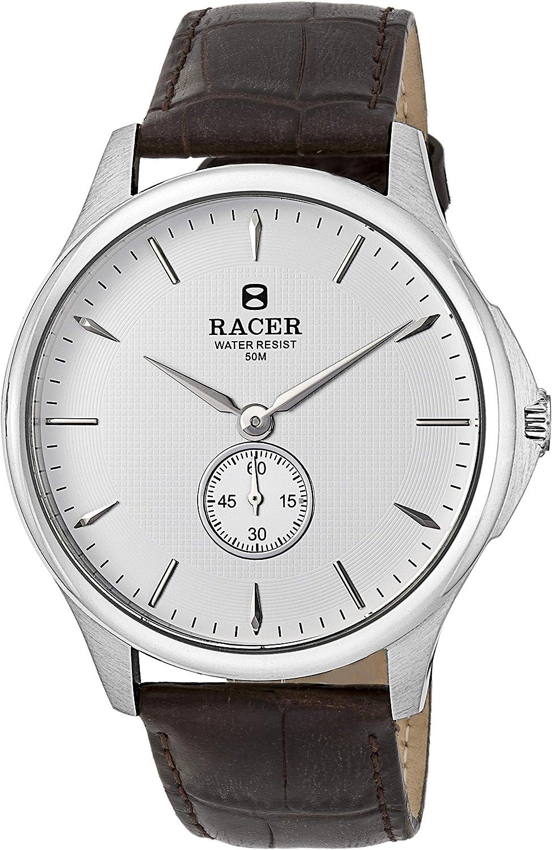 Racer Reloj Analógico para Hombre de Kinetico con Correa en Cuero R15T02C1