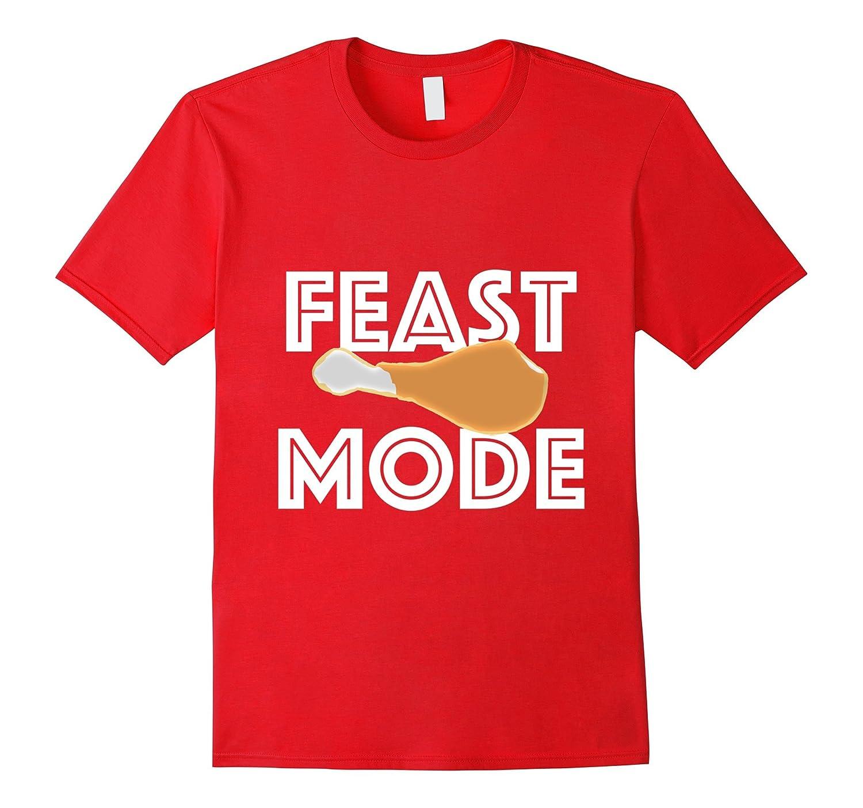 Feast Mode Thanksgiving Turkey Day Beast T-Shirt-Art