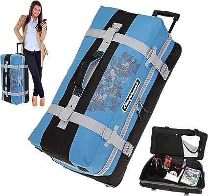Trolley Bigpack XXL 83 cm 120 Liter Reisetrolley Reisetasche Dermata 3462NY Grau