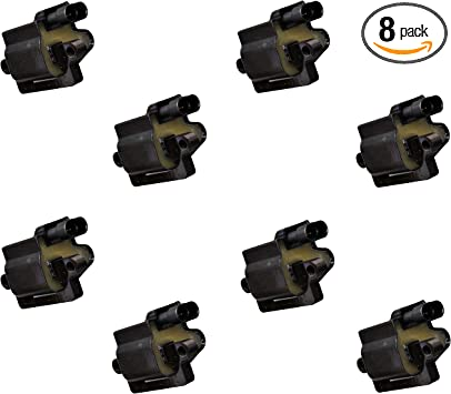 Motorhot Pack of 8 Straight Boot Ignition Coils fit for Chevy GMC Cadillac Hummer H2 H3 V8 Compatible with UF413 12570616