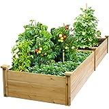 """Best Value Cedar Raised Garden Bed Planter 24"""" W x 96"""" L x 10.5"""" H"""