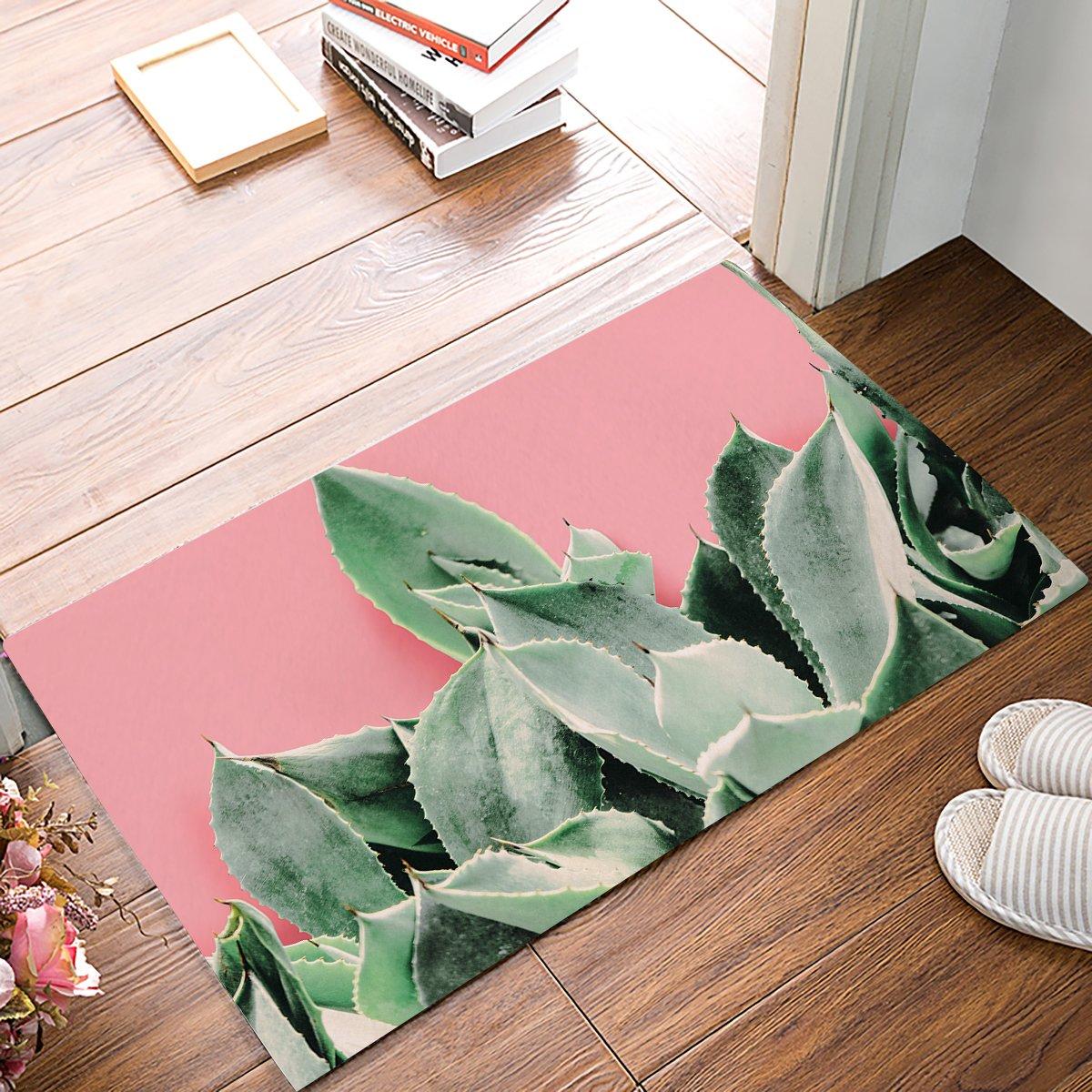 Libaoge Succulent Cactus Plants Doormat Welcome Mat Entrance Mat Indoor//Outdoor Door Mats Floor Mat Bath Mat