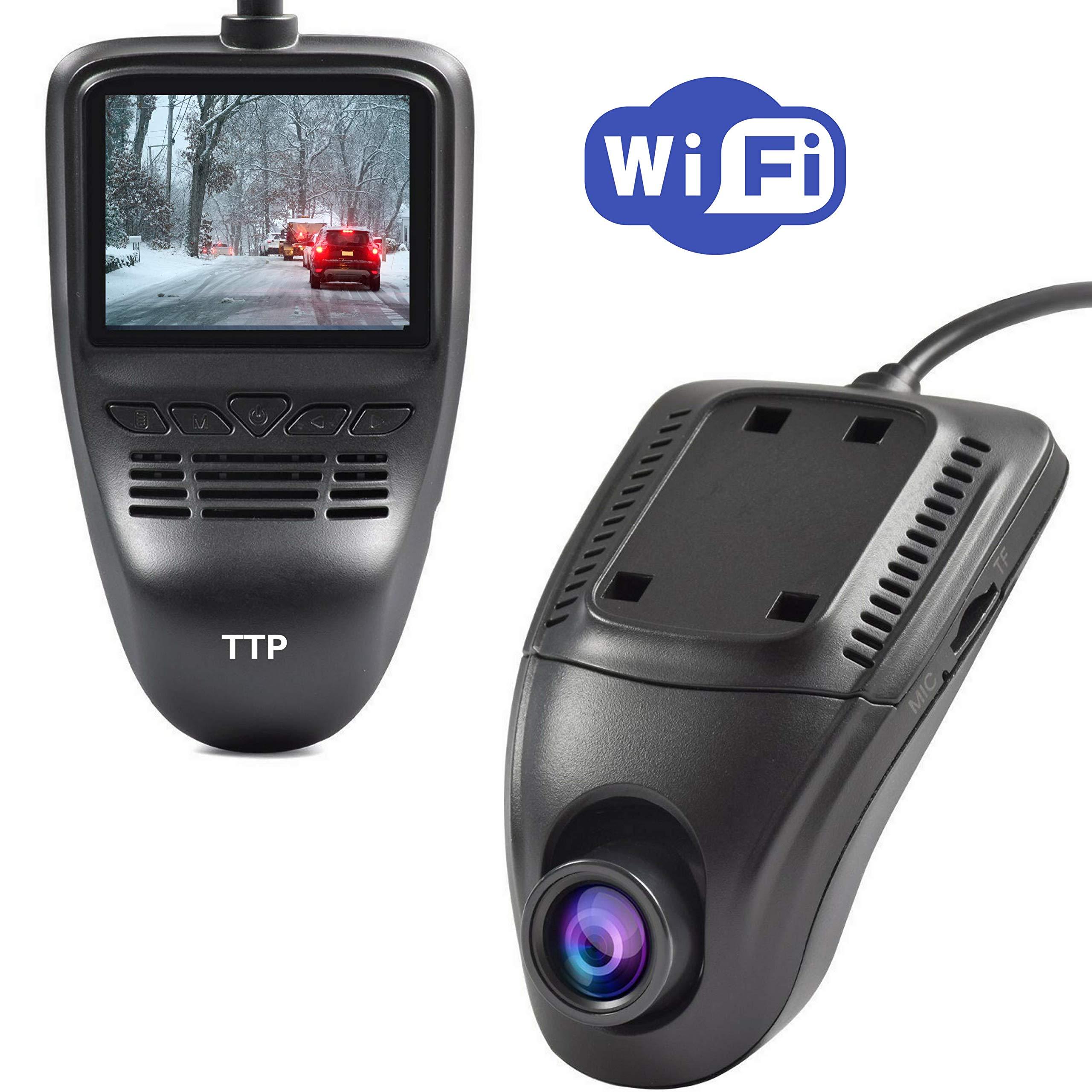 Driving Dash Cam Pro Camera, Car Front Dash Recorder Camera 4 Lanes,Driving Dvr Cam with WiFi,Sony Cmos Video Sensor,Loop Recording,G-Sensor,Invisible Design