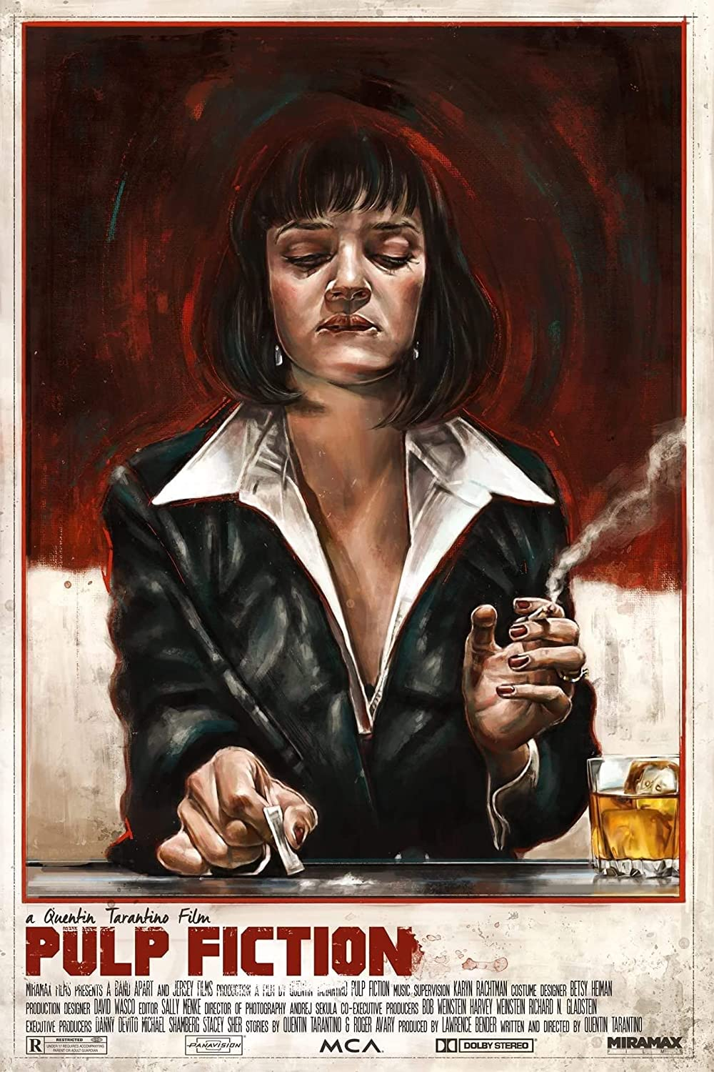 Tallenge Movie Collection Pulp Fiction Uma Thurman As Mia Wallace Large Poster Paper 18 X 24 Inches Multicolour Amazon In Home Kitchen