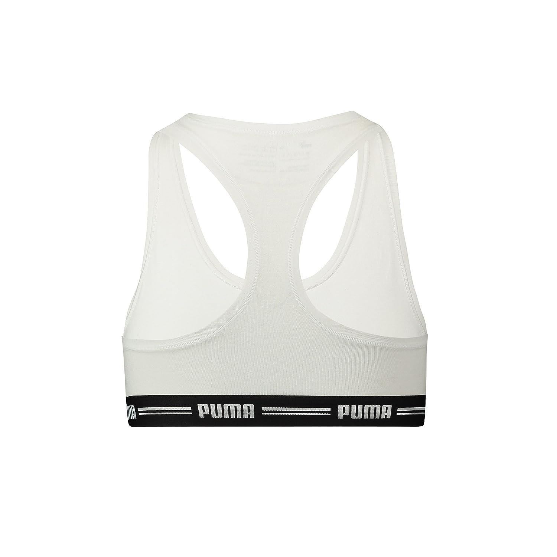 Puma - Sujetador Deportivo - Básico - para Mujer White (300) XS ...