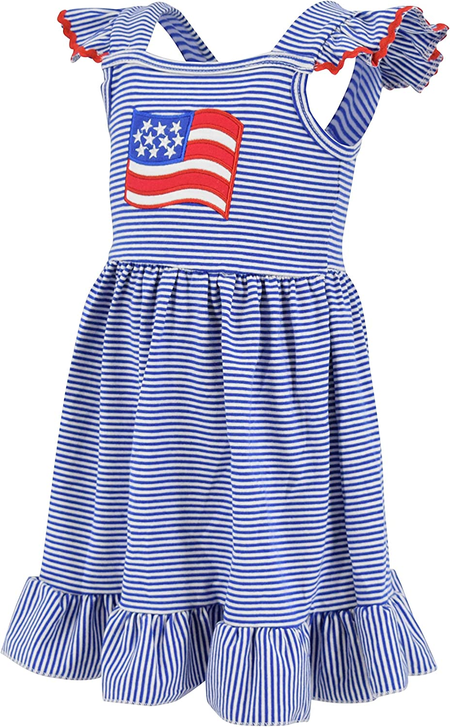 Unique Baby Girls 4th of July American Flag Dress
